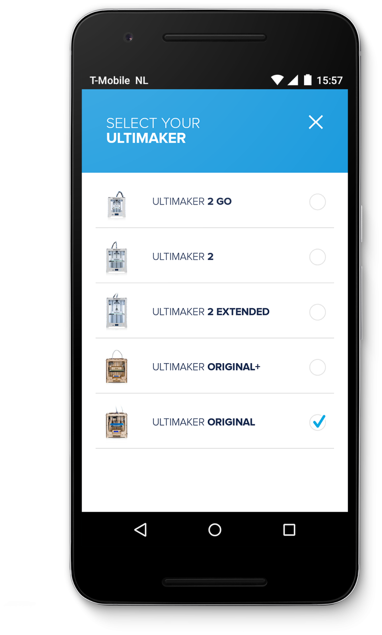 Ultimaker - App back