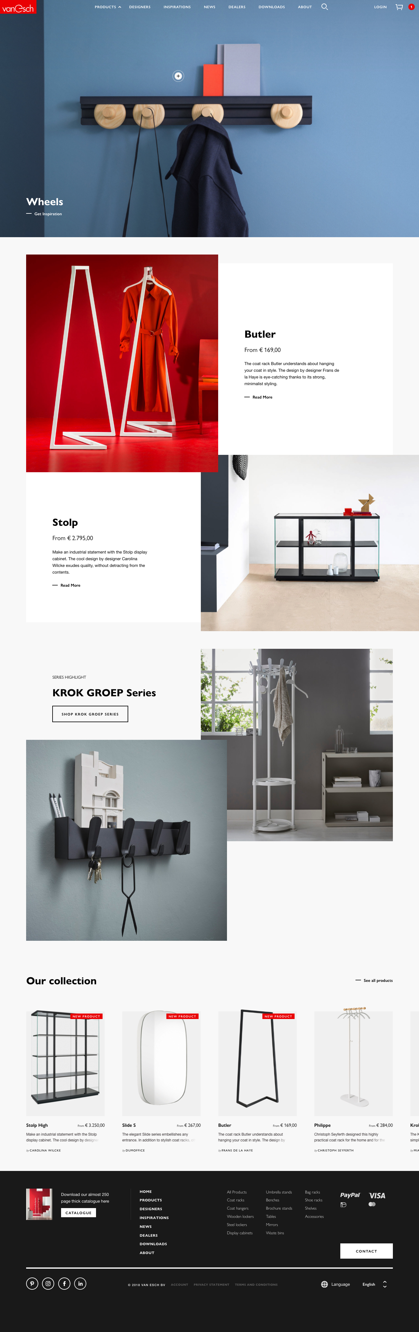 Van Esch product page