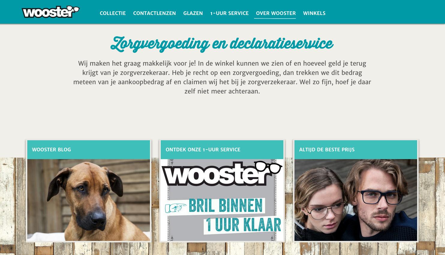 Wooster - Website front
