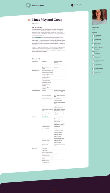 Oncode Community Platform back