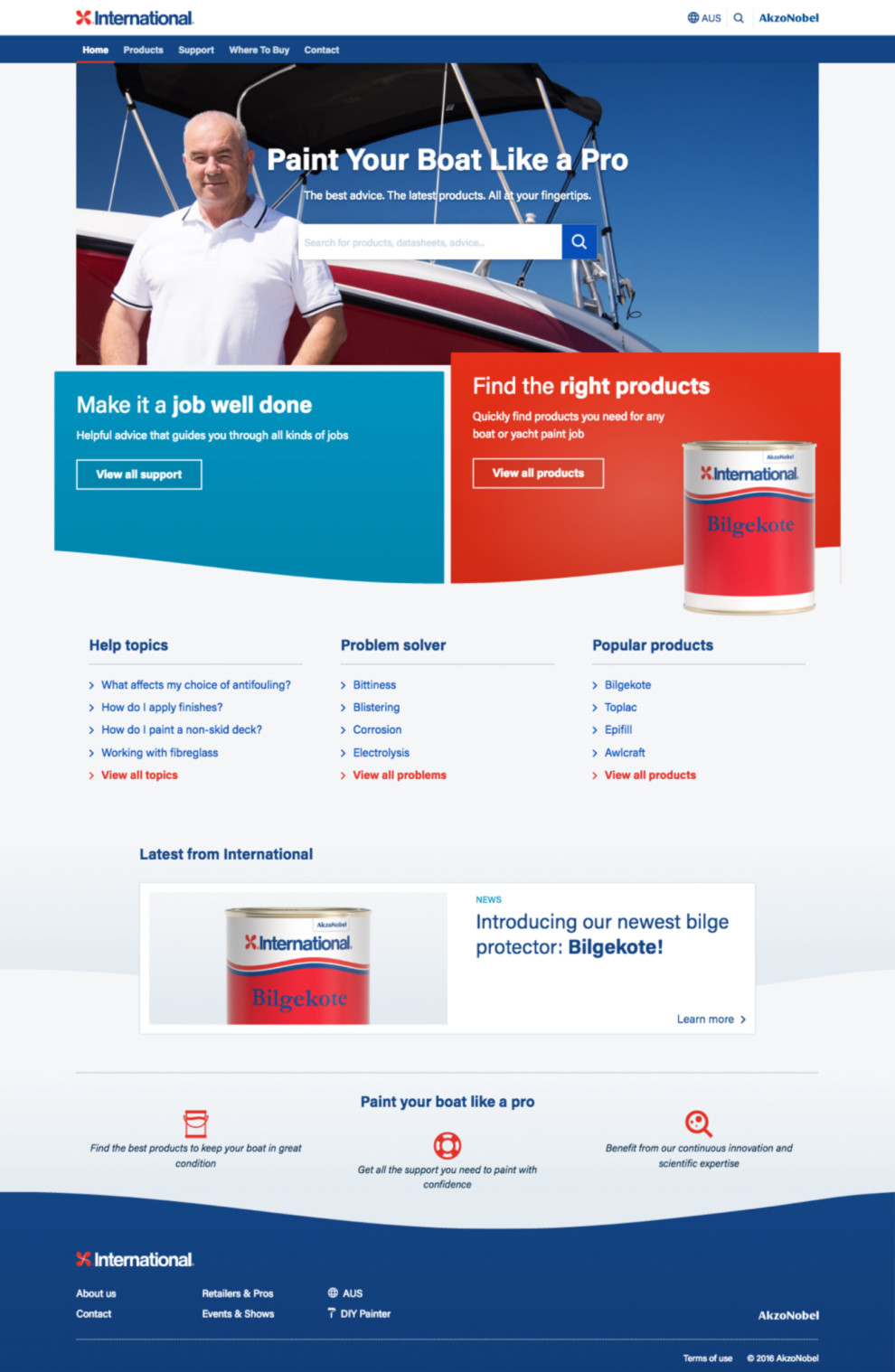 AkzoNobel International Yachtpaint front