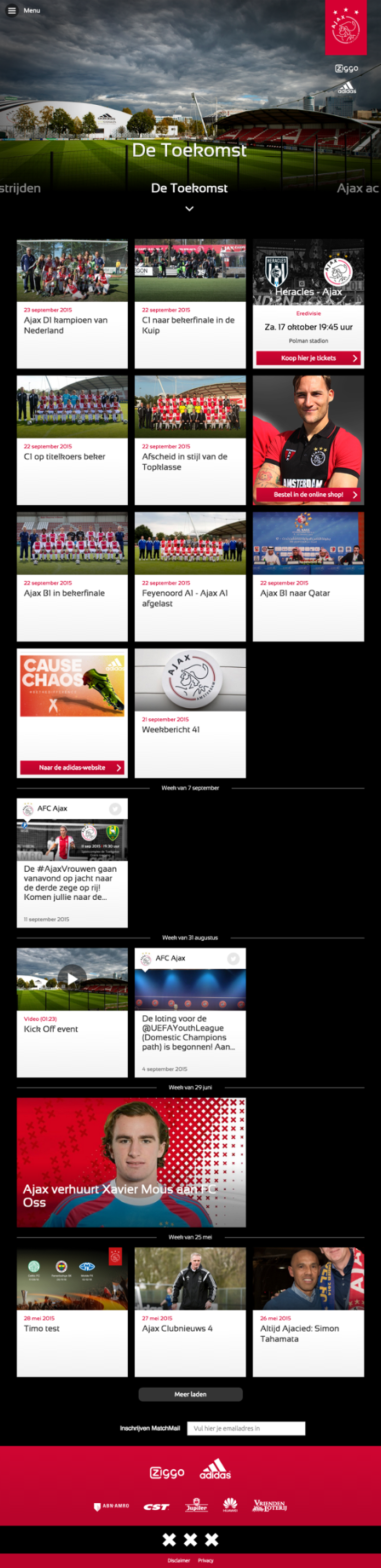 Ajax homepage overview