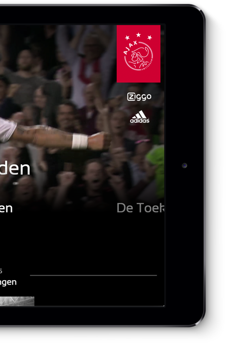 Ajax website op tablet