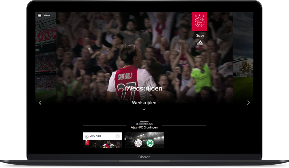 Ajax website op laptop