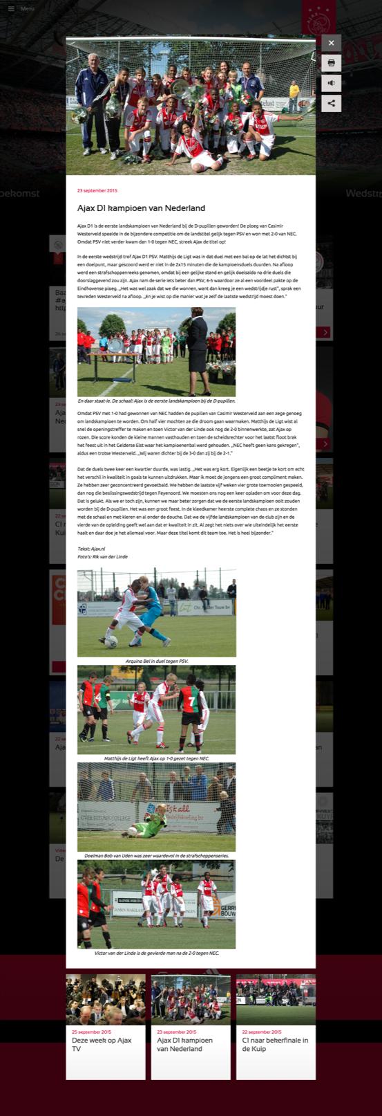 Ajax homepage popup