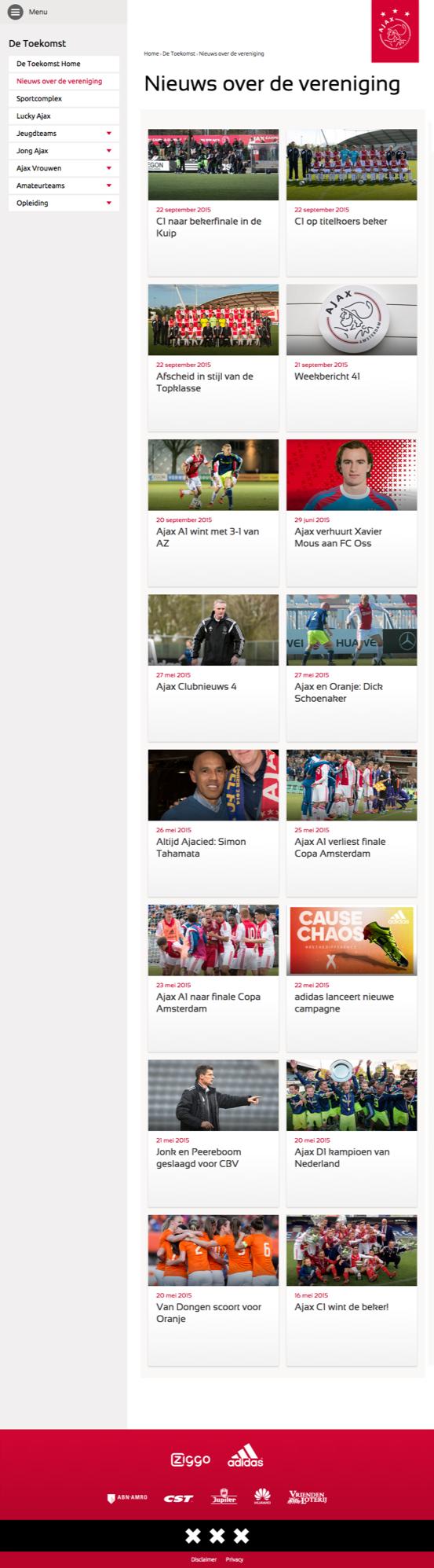Ajax site pagina