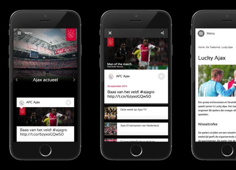 Ajax website mobile