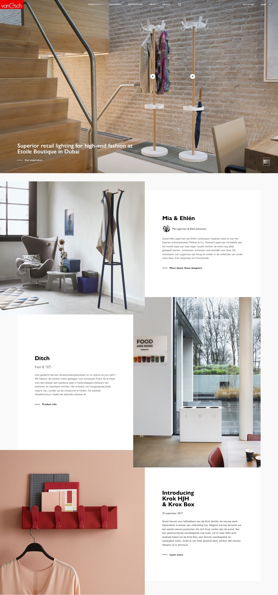Van Esch - Website front